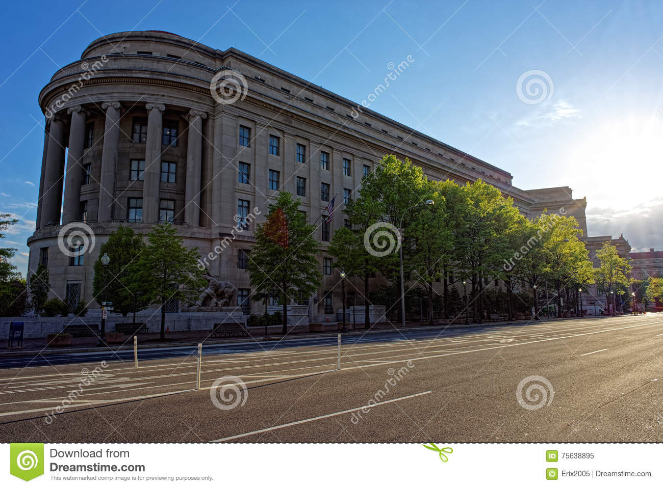 U.s. Federal Trade Commission top Federal Trade Mission Building In Washington Dc Stock
