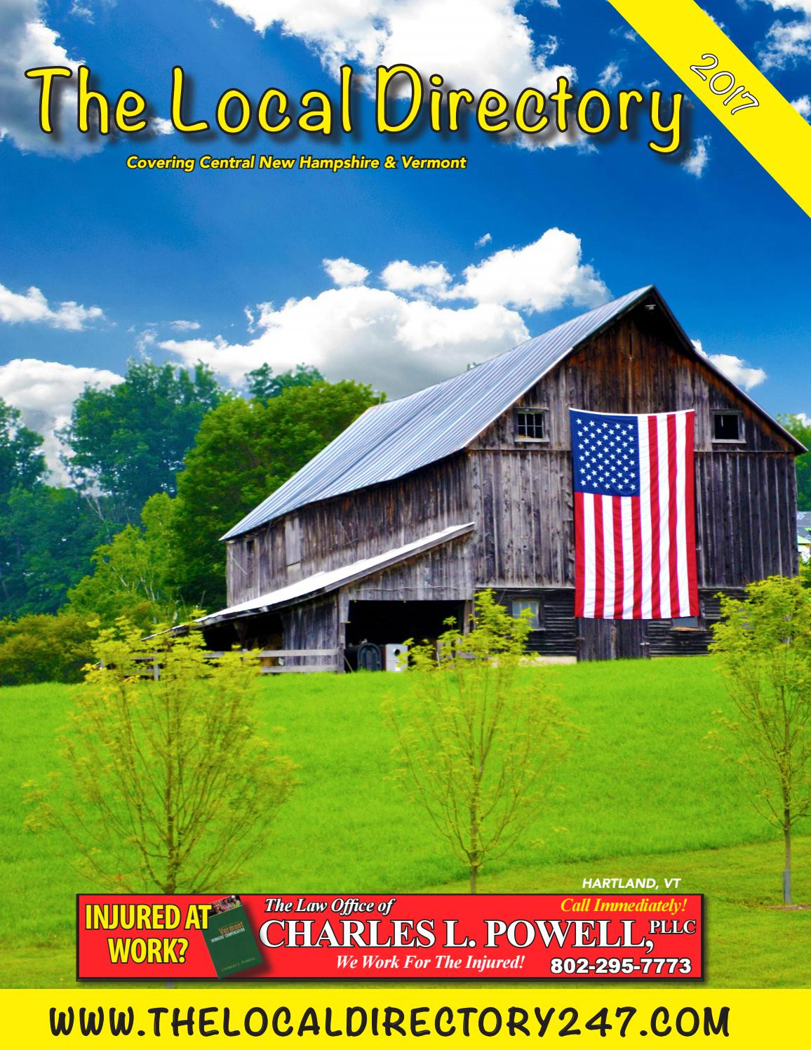 Vermont Department Of Housing and Community Development Collection the Local Directory 2017 Yellow Pages by Mason Marketing