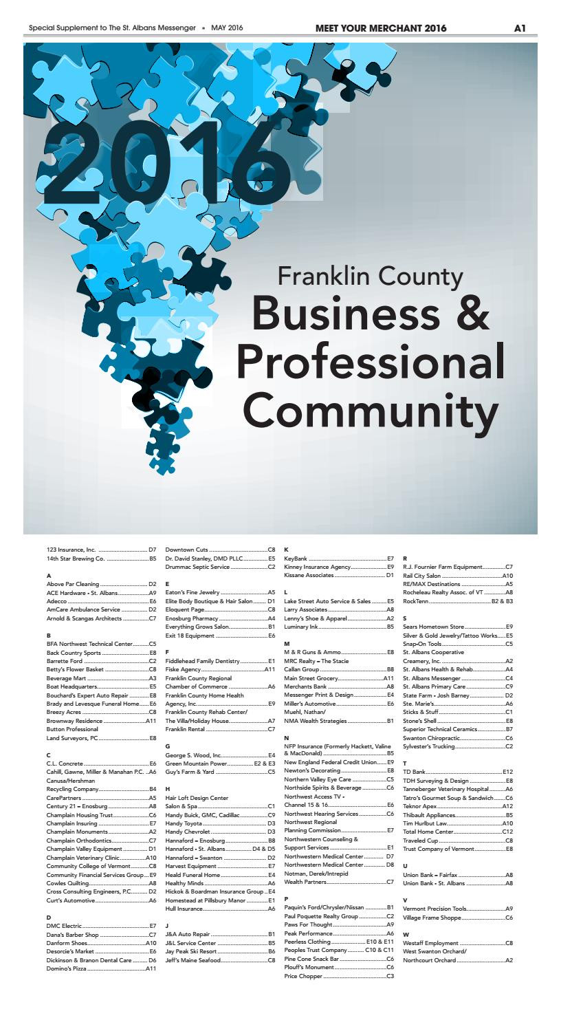 Vermont Department Of Housing and Community Development Wonderful Meet Your Franklin County Business & Professional Munity