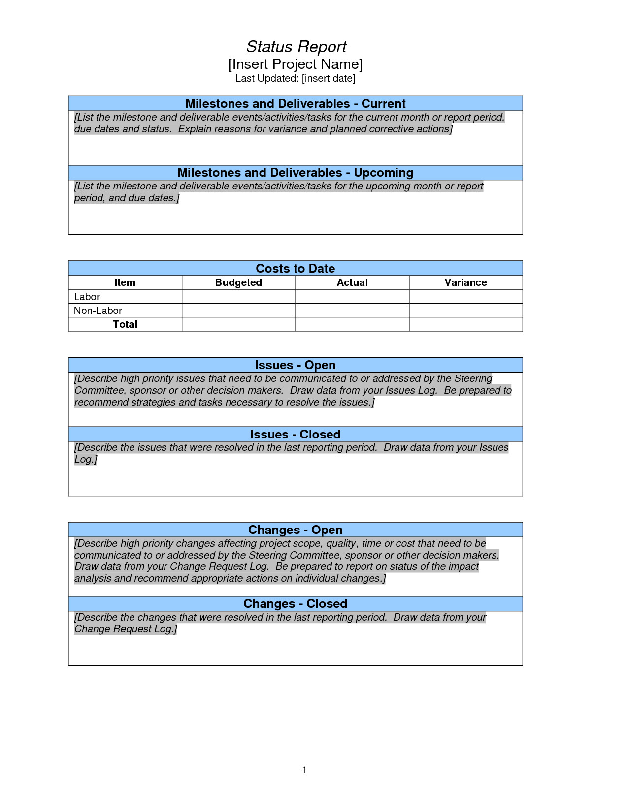 Waste Management Plan Template Awesome Weekly Project Status Report Sample Google Search