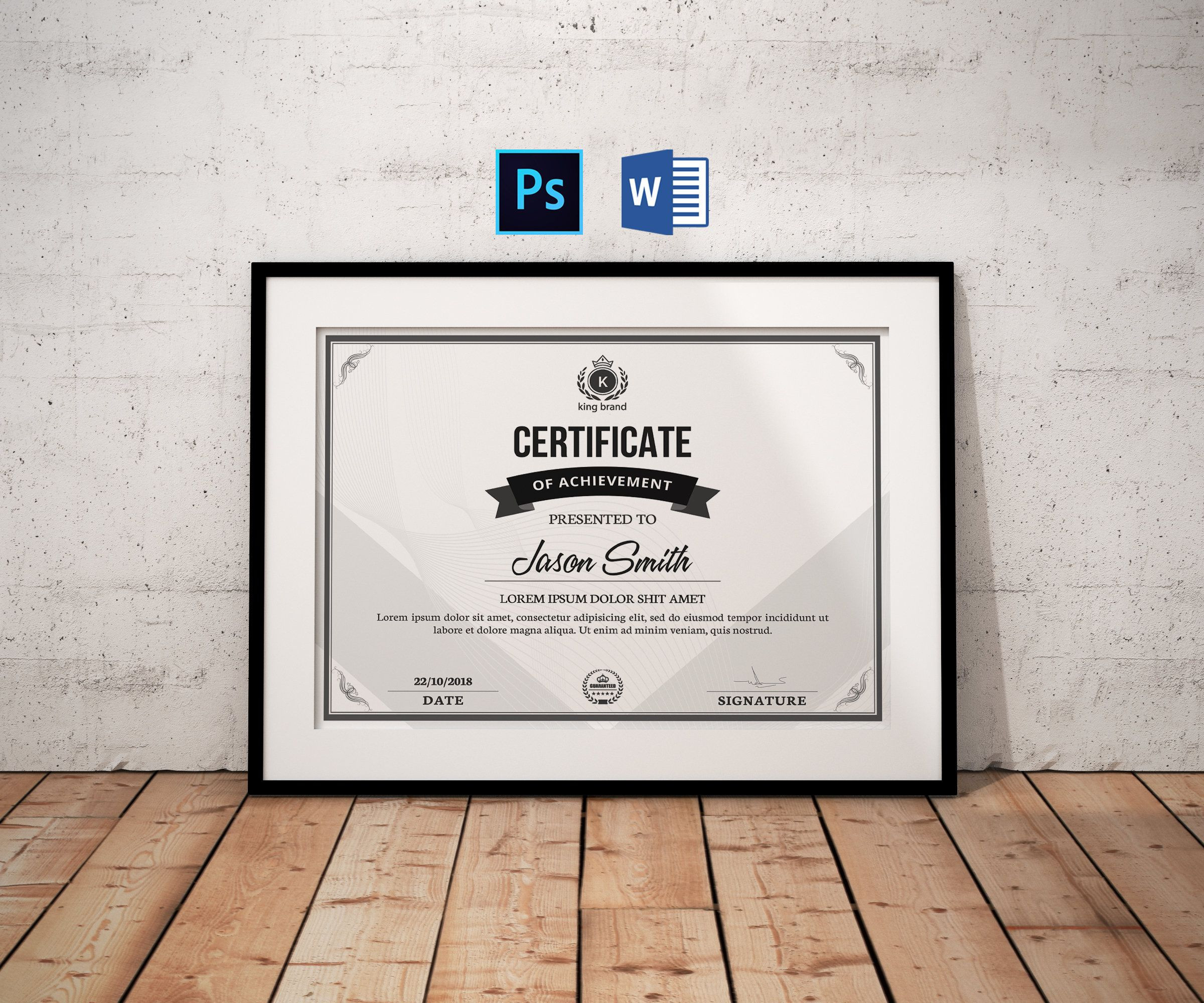 Winner Certificate Template Easy Certificate Template